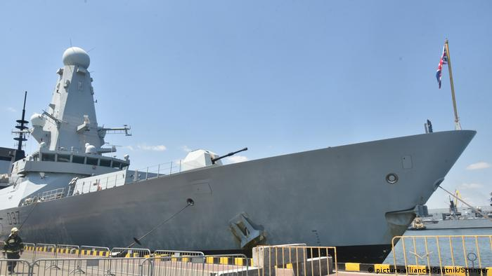 Есмінець ВМС Великобританії у порту Одеси під час навчань Sea Breeze 2019