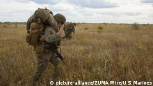29.06.2019 June 29, 2019 - Chabanka, Ukraine - Sailors assigned to Marine Rotational Force-Europe 19.2, Marine Forces Europe and Africa, carry simulated casualties during Sea Breeze 19 in Chabanka, Ukraine, June 29, 2019. Sea Breeze is a U.S. and Ukraine co-hosted multinational maritime exercise held in the Black Sea and is designed to enhance interoperability of participating nations and strengthen maritime security and peace within our region. (Credit Image: © U.S. Marines/ZUMA Wire/ZUMAPRESS.com |