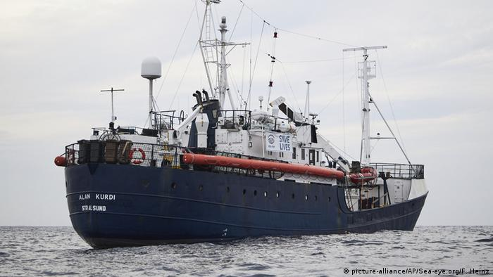 Корабль Alan Kurdi организации по спасению беженцев в море Sea-Eye