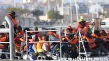Malta Flüchtlinge die vom Rettungsschiff Alan Kurdi gerettet wurden