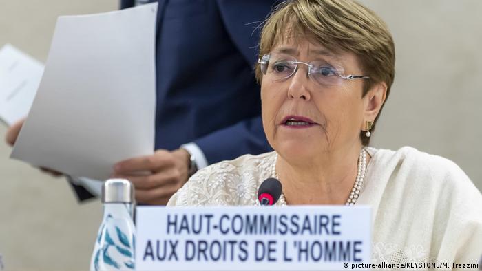 Michelle Bachelet, alta comisionada de Derechos Humanos de la ONU.