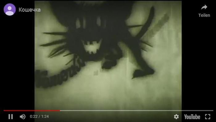 Screenshot Youtube Animation Kätzchen, Sowjetunion 1968