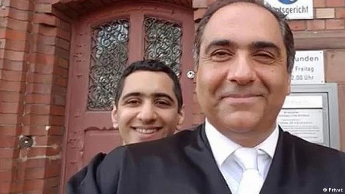 Dr. Dr. Shahram Iranbomy, iranisch-deutscher Rechtsanwalt in Frankfurt mit seinen Kindern (Privat)
