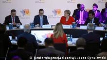 Polen Westbalkan-Konferenz   Duda & Morawiecki & Merkel