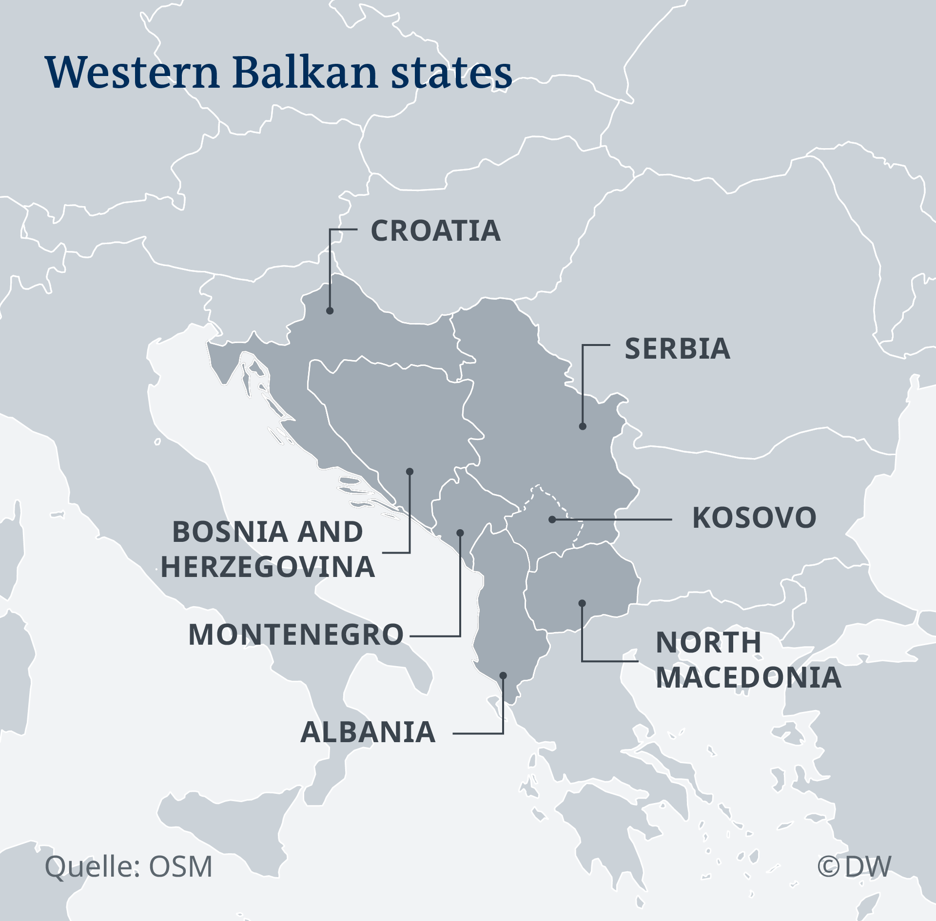 DW Infographic: Western Balkan states