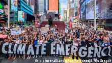Demonstrations for climate emergency in New York City