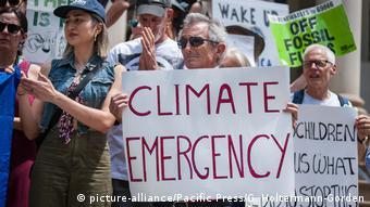 Акция в защиту климата в США