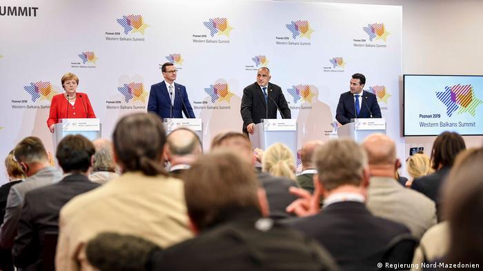 Polen Westbalkan-Konferenz | Merkel & Zaev & Borisov & Morawiecki (Regierung Nord-Mazedonien)