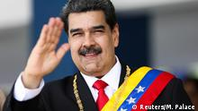 Venezuela's President Nicolas Maduro takes part in a military parade to celebrate the 208th anniversary of Venezuela's declaration of independence in Caracas, Venezuela July 5, 2019. Miraflores Palace/Handout via REUTERS ATTENTION EDITORS - THIS PICTURE WAS PROVIDED BY A THIRD PARTY.
