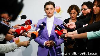 Polen - Ana Brnabic, Premierminister von Serbien auf dem Westbalkan-Gipfel (picture-alliance/B. Zawrzel)