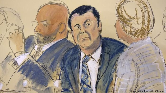 Gerichtsskizze, Joaquin El Chapo Guzman