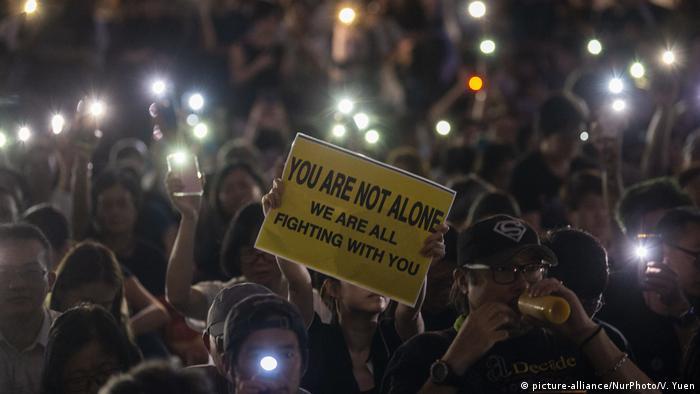 Hongkong Protest gegen Auslieferungsgesetz (picture-alliance/NurPhoto/V. Yuen)