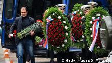 Russland Beerdigung Trauerzeremonie Seeleute Marine U-Boot