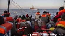 Rettungsboot der NGO Mediterranea Saving Humans