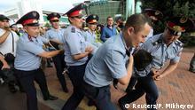 Kasachstan Festnahmen bei Protesten in Almaty