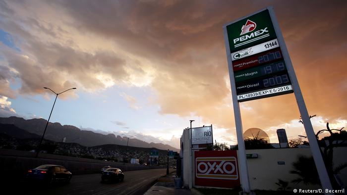 Eine Tankstelle der PEMEX