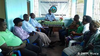 Mosambik Pressekonferenz der Partei MDM in Quelimane