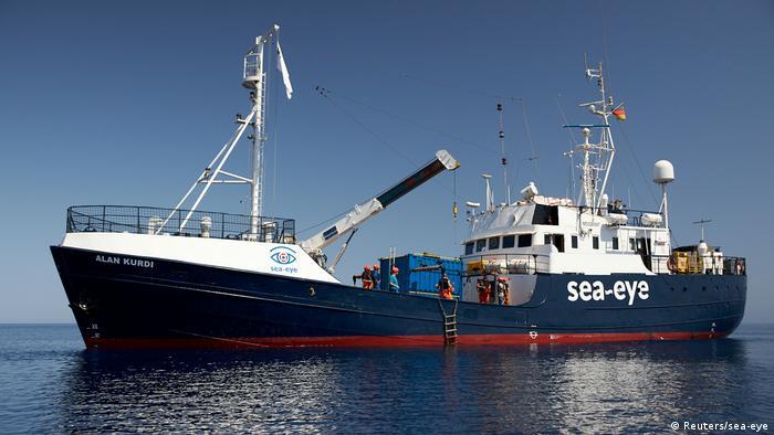 Navio de resgate Alan Kurdi, da ONG alemã Sea-Eye