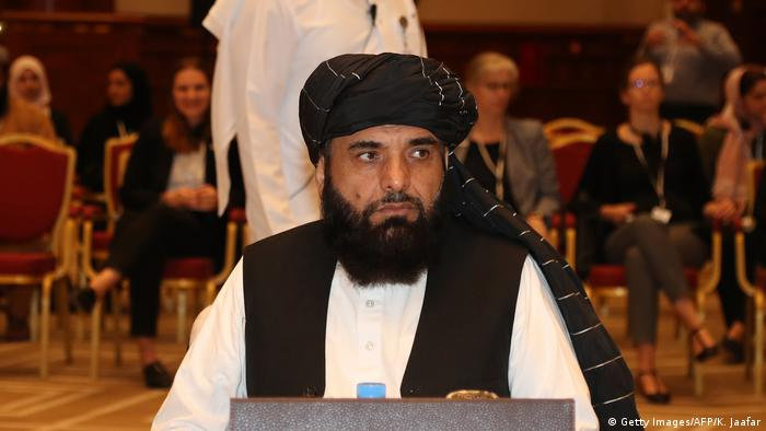 Suhail Shaheen, spokesman for the Taliban in Qatar, attends the intra-Afghan dialogue talks in Doha