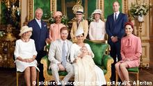 Royal Baby Christening. NEWS EDITORIAL USE ONLY. NO COMMERICAL USE. NO MERCHANDISING, ADVERTISING, SOUVENIRS, MEMORABILIA or COLOURABLY SIMILAR. NOT FOR USE AFTER AFTER 31 DECEMBER, 2019 WITHOUT PRIOR PERMISSION FROM ROYAL COMMUNICATIONS. NO CROPPING. Copyright in this photograph is vested in The Duke and Duchess of Sussex. Publications are asked to credit the photographs to Chris Allerton No charge should be made for the supply, release or publication of the photograph. The photograph must not be digitally enhanced, manipulated or modified in any manner or form and must include all of the individuals in the photograph when published. This official christening photograph released by the Duke and Duchess of Sussex shows the Duke and Duchess with their son, Archie and (left to right) the Duchess of Cornwall, The Prince of Wales, Ms Doria Ragland, Lady Jane Fellowes, Lady Sarah McCorquodale, The Duke of Cambridge and The Duchess of Cambridge in the Green Drawing Room at Windsor Castle. Picture date: Saturday July 6, 2019. See PA story ROYAL Christening. Photo credit should read: Chris Allerton/SussexRoyal URN:43955460 |