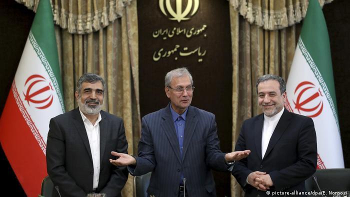 Iran uranium enrichment: press conference in Tehran (picture-alliance/dpa/E. Noroozi)