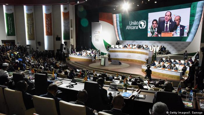 A general view of the African Union summit in Niamey