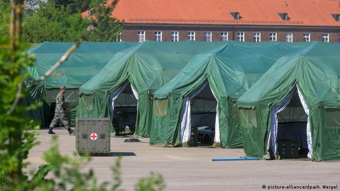Tents set up in Feldkirchen (picture-alliance/dpa/A. Weigel)