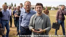 Ukraine Wolodymyr Selenskyj, Präsident & Donald Tusk, EU-Ratspräsident