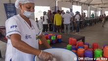 New reception center in the Department of La Guajira in Colombia. Women prepare food and drinks Copyright: Eline van Nes, DW, Nord-Kolumbien, May 2019