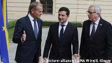 Ukraine Kiew Gipfeltreffen mit EU Donald Tusk, Wolodymyr Selenskyj und Jean-Claude Juncker