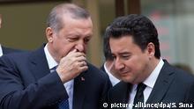 Türkei Präsident Erdogan und Ali Babacan