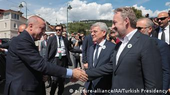 O Eρντογάν στο Σαράγεβο τον Ιούλιο του 2019