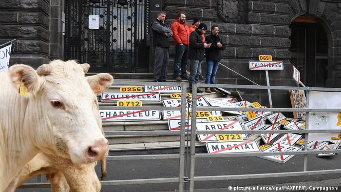 Protesta de agricultores contra el acuerdo UE-Mercosur en Francia.