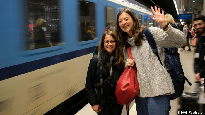 Europe by train Giulia Saudelli Luisa von Richthofen (DW/E.Woodnorth)