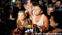 Georgien Tiflis Proteste gegen Rustavi 2 TV Sender