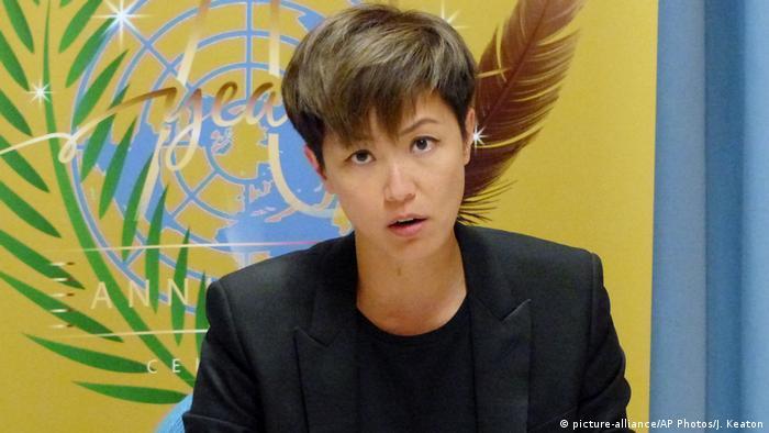 Genf Denise Ho Rede vor UN Hongkong