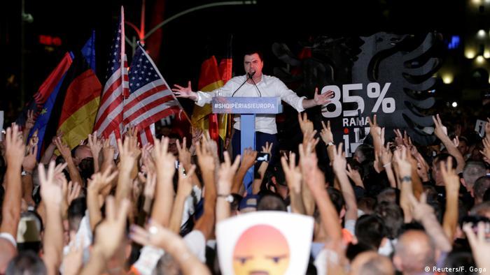 Democratic Party leader Lulzim Basha, Tirana, Albania