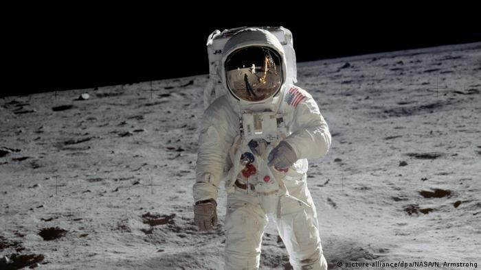 Edwin «Buzz» Aldrin auf dem Mond (picture-alliance/dpa/NASA/N. Armstrong)