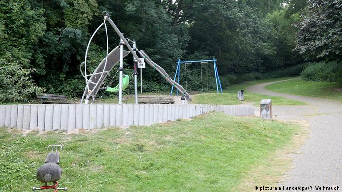 A playground in the German city of Mülheim near the place where a suspected rape is believed to have occured