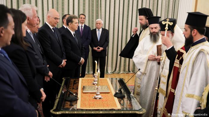 Griechenland Vereidigung der neuen Regierung unter Premierminister Kyriakos Mitsotakis