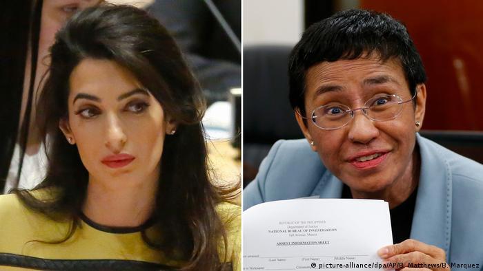Amal Clooney und Maria Ressa