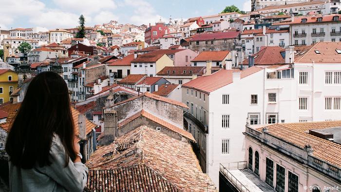 Portugal Coimbra Altstadt ohne Bushaltestellen, Brücken und Dönerläden