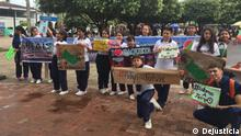 Children in Florencia, the capital city of the department with the most deforestation in Colombia, join the global strike called by Greta Thunberg (DW/C. Mila)