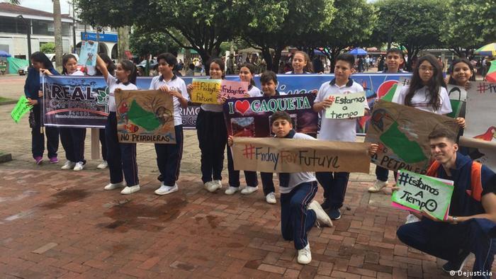 Los niños de Florencia, capital del departamento con mayor deforestación de Colombia, se unen a la huelga mundial convocada por Greta Thunberg y al movimiento Viernes para el Futuro.