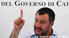 Italien Sizilien Flüchtlingszentrum Mineo | Matteo Salvini, Innenminister (Getty Images/AFP/A. Solaro)