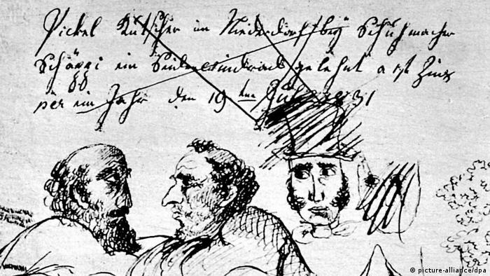 Sketches by Gottfried Keller (picture-alliance/dpa)