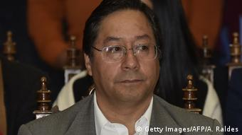 Luis Arce, candidato presidencial del MAS.