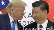 Japan G20 Gipfel in Osaka | Donald Trump und Xi Jinping (picture-alliance/AP Photo/S. Walsh)