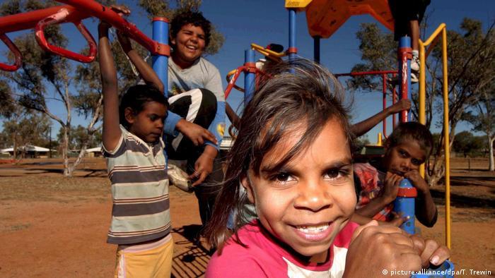 Aboriginal children on a playground