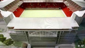 Modell des geplanten Fritz-Walter-Stadions in Kaiserslautern